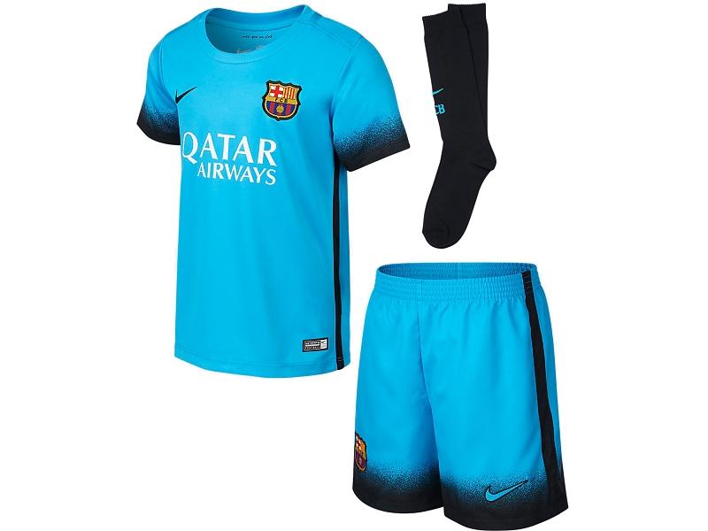 strój junior FC Barcelona 15-16
